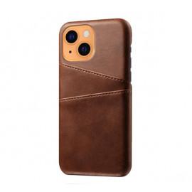 Casecentive Leren Wallet Back case iPhone 13 bruin