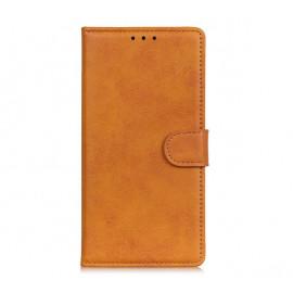 Casecentive - Étui portefeuille iPhone 13 magnétique - Marron / Brun