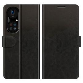 Casecentive - Étui Portefeuille Magnétique en Cuir Huawei P50 Pro noir