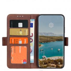 Casecentive - Étui portefeuille iPhone 12 / iPhone 12 Pro magnétique - Marron