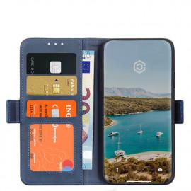 Casecentive - Étui portefeuille iPhone 12 Mini magnétique - Bleu