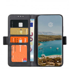 Casecentive - Étui portefeuille iPhone 12 Pro Max magnétique - Noir