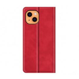 Casecentive - Étui portefeuille iPhone 13 Mini magnétique - Rouge