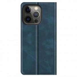 Casecentive - Étui portefeuille iPhone 13 Pro Max magnétique - Bleu