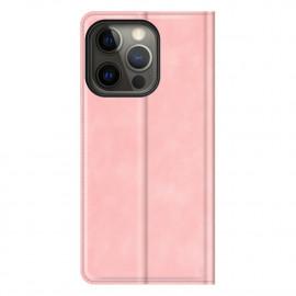 Casecentive - Étui portefeuille iPhone 13 Pro Max magnétique - Rose