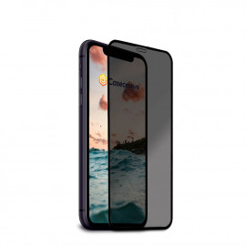 Casecentive - Vitre de protection en verre trempé 3D couverture totale - Anti-Espion - iPhone 11 Pro
