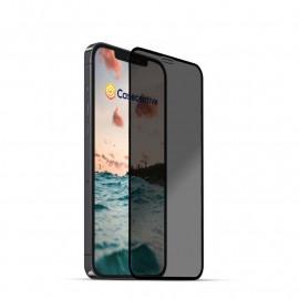 Casecentive - Vitre de protection en verre trempé 3D couverture totale - Anti-Espion -  iPhone 13 / iPhone 13 Pro