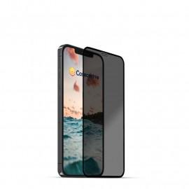 Casecentive - Vitre de protection en verre trempé 3D couverture totale - Anti-Espion - iPhone 13 Mini
