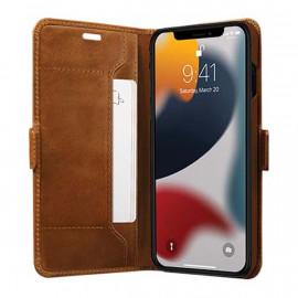 dbramante1928 Copenhagen Slim - Étui portefeuille iPhone 13 Pro Max - Marron