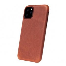 Decoded - Coque iPhone 11 Pro Max en cuir - Marron foncé