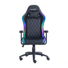 Gear4U Junior - Siège gamer LED / Chaise gaming RGB - Noir