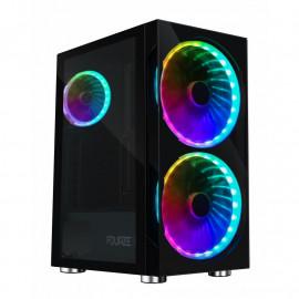 Fourze T320 ATX RGB - Boîtier PC Gamer avec éclairage RGB