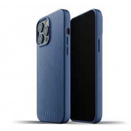 Mujjo - Coque cuir iPhone 13 Pro Max - Bleu