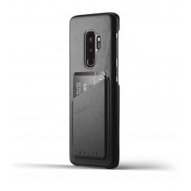 Coque Portefeuille en Cuir Mujjo Galaxy S9 Plus Noir