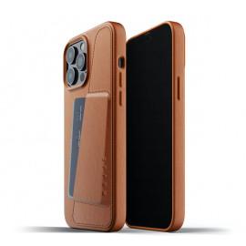 Mujjo - Coque cuir iPhone 13 Pro Max portefeuille - Marron