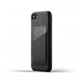 Mujjo Coque en cuir pour iPhone 7 / 8 / SE 2020  noire moderne