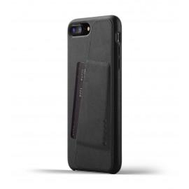 Mujjo Coque Portefeuille Cuir pour iPhone 7 / 8 Plus Noire