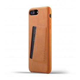 Mujjo Coque Portefeuille Cuir pour iPhone 7 / 8 Plus Marron