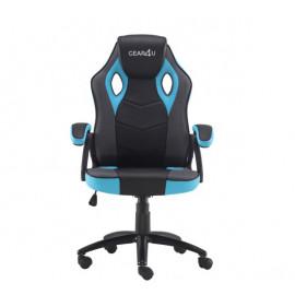 Gear4U Rook - Siège gamer / Chaise gaming - Bleu / Noir