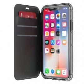 Griffin Survivor Clear étui portefeuille iPhone X / XS noir