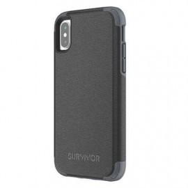 Griffin Survivor Prime Leather étui cuir iPhone X / XS noir