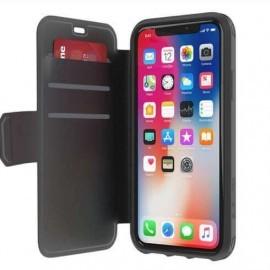 Griffin Survivor Strong Wallet iPhone X / XS Noir/ Gris foncé