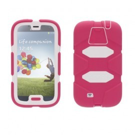 Griffin Survivor Hardcase Galaxy S4 roze/wit