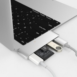 HyperDrive USB-C 5 en 1 USB 3.1 argenté
