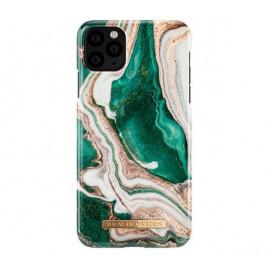 Coque iDeal of Sweden iPhone 11 Pro en marbre doré vert