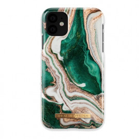 iDeal of Sweden Fashion Coque iPhone 11 Golden Jade Marble