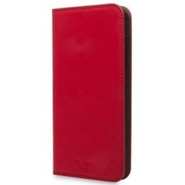 Knomo iPhone X / XS Premium cuir Folio Rouge