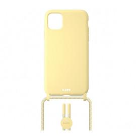 Laut - Pastels Coque avec cordon iPhone 12 / iPhone 12 Pro - jaune