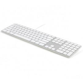 Matias - Clavier filaire RGB / LED QWERTY pour MacBook - argenté