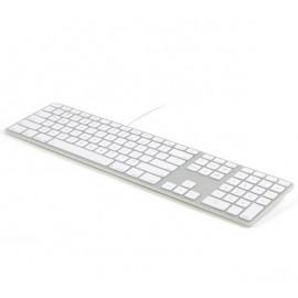 Matias - Clavier filaire RGB / LED AZERTY pour MacBook - argenté