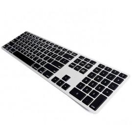 Matias - Clavier sans fil QWERTY avec rétro-éclairage pour MacBook noir/argenté