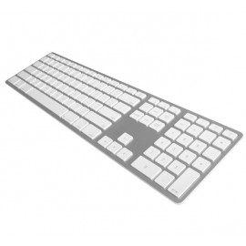 Matias - Clavier sans fil QWERTY avec rétro-éclairage pour MacBook blanc/argenté