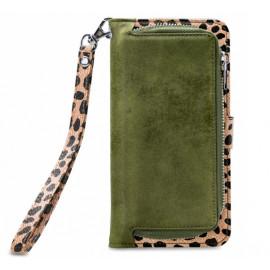 Mobilize 2in1 Gelly Wallet Zipper Case iPhone 12 Pro Max olijfgroen / leopard