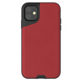 Mous Contour - Coque iPhone 11 - En cuir - Rouge