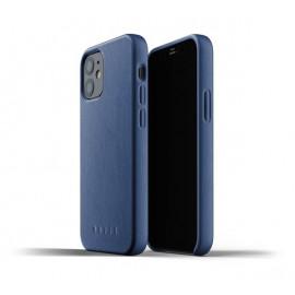 Mujjo - Coque cuir iPhone 12 - Bleu