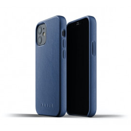 Mujjo - Coque cuir iPhone 12 Mini - Bleu