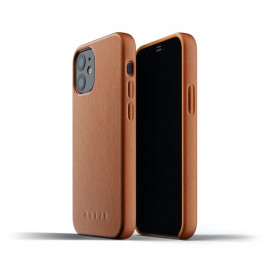 Mujjo - Coque cuir iPhone 12 Mini - Marron