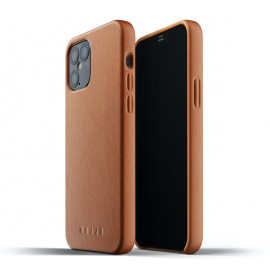 Mujjo - Coque iPhone 12 / iPhone 12 Pro Cuir - Marron