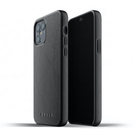 Mujjo - Coque iPhone 12 / iPhone 12 Pro Cuir - Noir