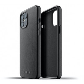 Mujjo - Coque cuir iPhone 12 Pro Max - Noir