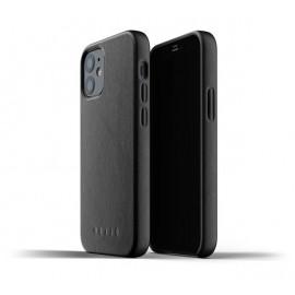 Mujjo - Coque cuir iPhone 12 - Noir