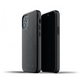 Mujjo - Coque cuir iPhone 12 Mini - Noir