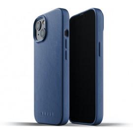 Mujjo - Coque cuir iPhone 13 - Bleu