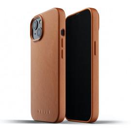 Mujjo - Coque cuir iPhone 13 Mini - Marron