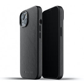Mujjo - Coque cuir iPhone 13 - Noir