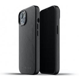 Mujjo - Coque cuir iPhone 13 Mini - Noir